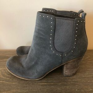 BP Nordstrom Gray Studded Ankle Booties 7.5 M